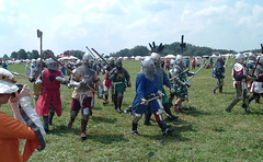 middle ages, person, battle, troop,