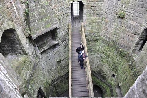 An empty tower at Caernarfon castle