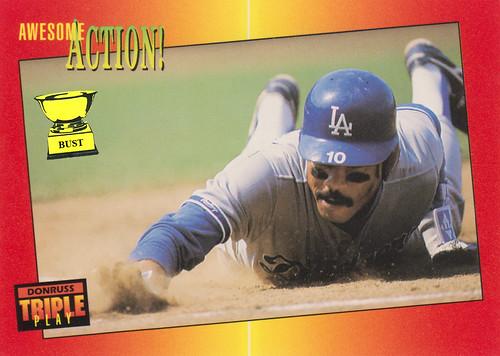 Baseball Card Bust Juan Samuel 1992 Donruss Triple Play
