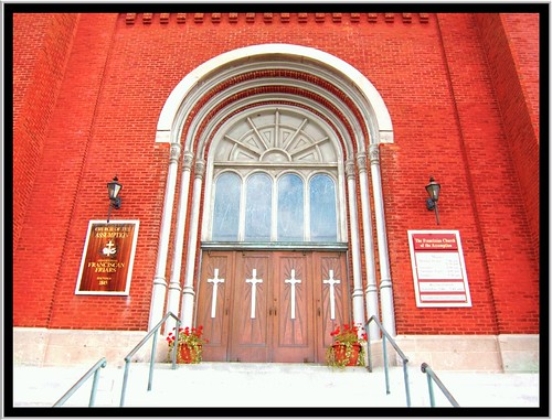Syracuse NY ~Assumption Church Entrance~ Historical