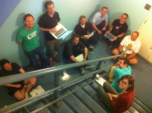 Design crit in the stairwell