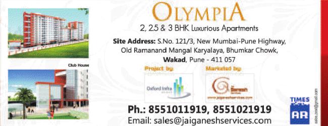 Olympia 2 BHK 2.5 BHK 3 BHK Flats Old Ramnandan Mangal Karyalaya Bhumkar Chowk Mumbai Bangalore Highway Wakad Pune 411057 - Pre-launch offer - 2