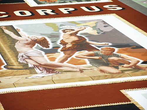 Sand tapestry La Orotava Corpus Christi