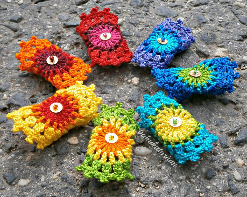 Set Of 7 Rainbow Crochet Mandala Bridesmaid Rings With Gol Flickr