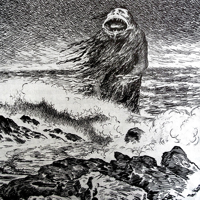 Theodor Kittelsen - The Sea Troll (detail), 1887