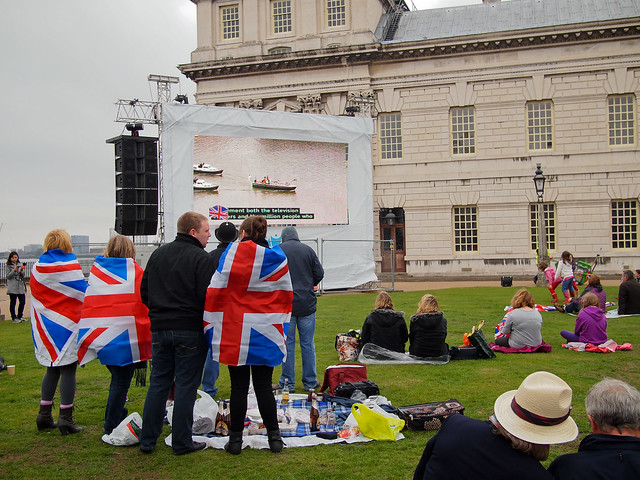 Watching The Queen's Diamond Jubilee Pageant