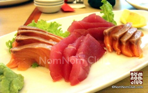 Tuna and Pink Salmon Sashimi