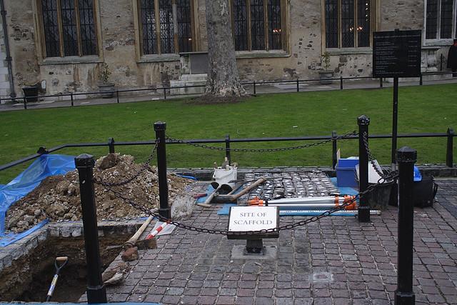 Лондон, Тауэр, место казни на реставрации