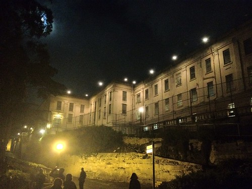 The Alcatraz cell block at night