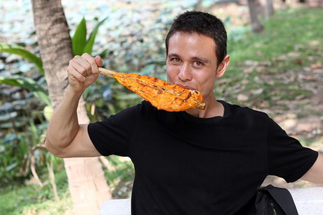 Here I am, eating like I'm a food blogger!