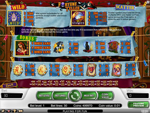 free Fortune Teller slot payout