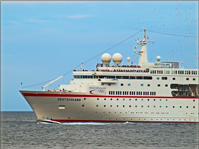 Arrival Of The Cruise Ship MS Deutschland  Known From The