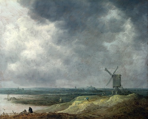 Jan van Goyen - A Windmill by a River [1642] by Gandalf's Gallery