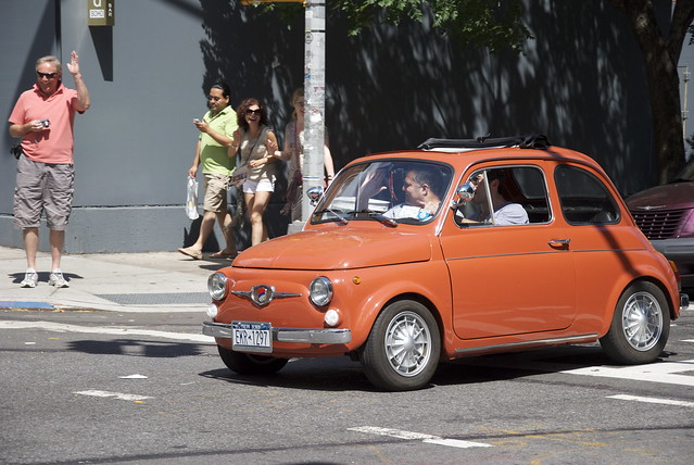 Everyone Loves a Mini Orange Fiat