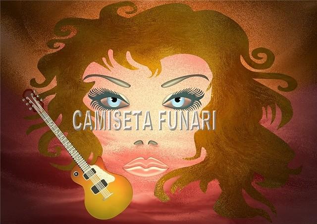 desenho ilustração rock in roll mulher guitarra