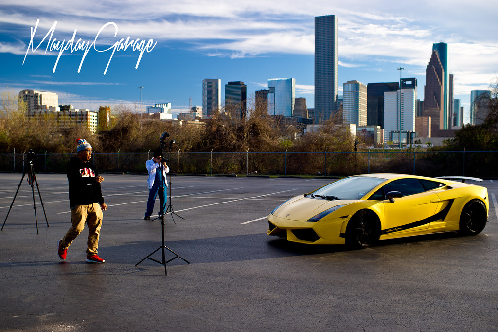 Robert and Patrick taking shots near downtown of Safeer's Lambo for ADV.1 before getting kicked out