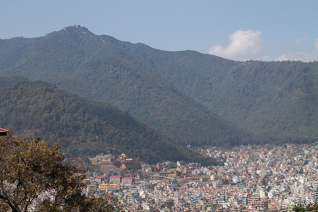 Temple on a Hill in Kathmandu Valley