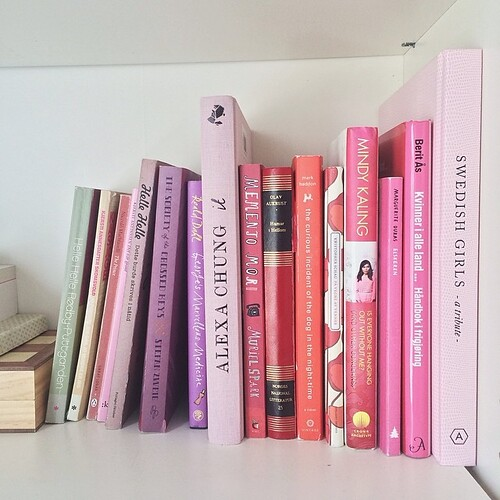 the pink shelf!