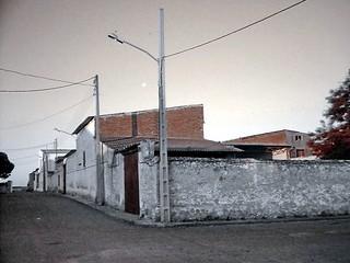 Noblejas, la esquina de la calle Hospital con la calle Juan de la Cierva