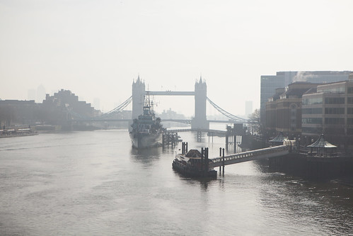 A view of Tower Bridge from London Bridge