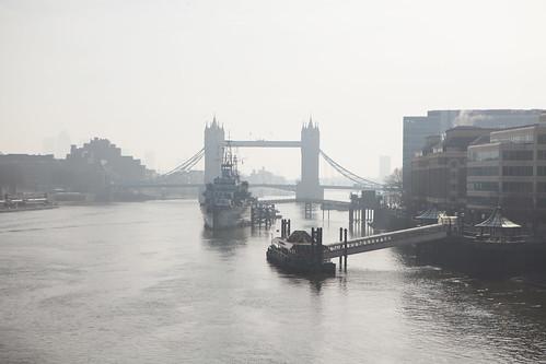 A view of Tower Bridge from London Bridge