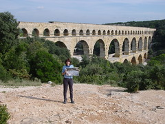 devil's bridge(0.0), monastery(0.0), fortification(0.0), ancient roman architecture(1.0), arch(1.0), aqueduct(1.0), tourism(1.0), arch bridge(1.0), viaduct(1.0), bridge(1.0),