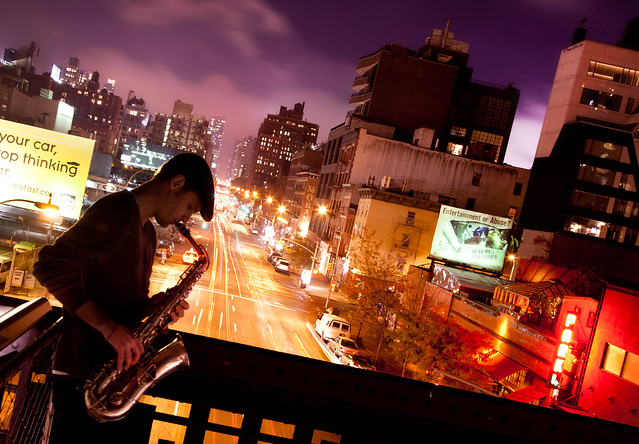 'Urban Jazz,' High Line, New York City (by: Chris Ford, creative commons)