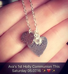 Just had this memory made for my little princess who's growing up so quickly!  Ava's 1st communion is this Saturday and she's so excited and nervous it's so cute!! Super excited and proud of her, she can't wait to wear her pretty white dress! :sparkles::h