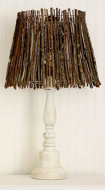You Can Make a Charming Lampshade With Twigs and Add Interest to Any Room in Your Home