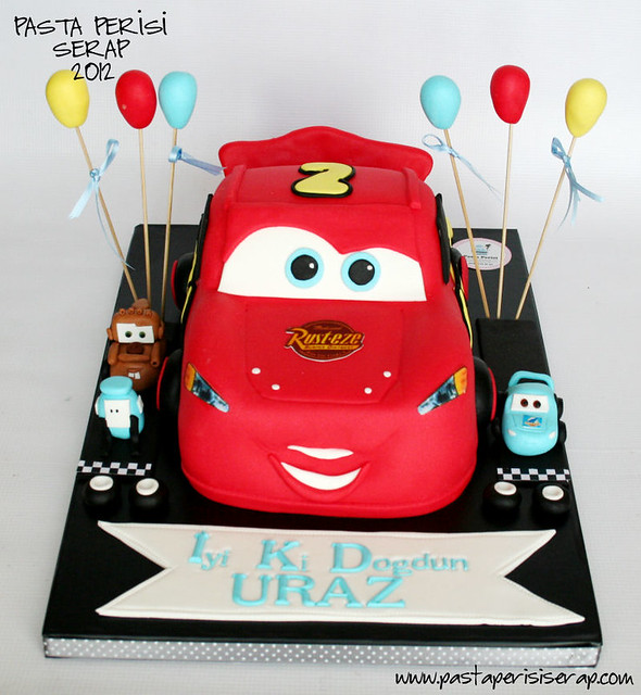 CARS - MCQUEEN BIRTHDAY CAKE-URAZ
