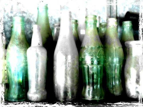 Green bottles by SwampAngel