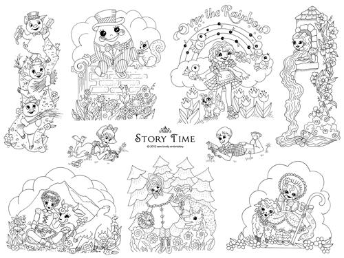 NEW Story Time Embroidery Pattern