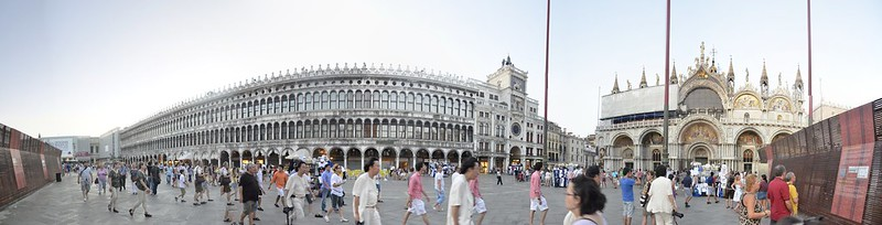 St Marks Square and St Marks Entrance Panorama, Venice, Italy