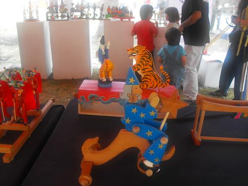 Juguetes de madera bolivianos