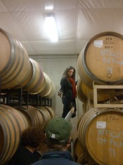 Ximena from Atticus Vyds giving us a barrel taste