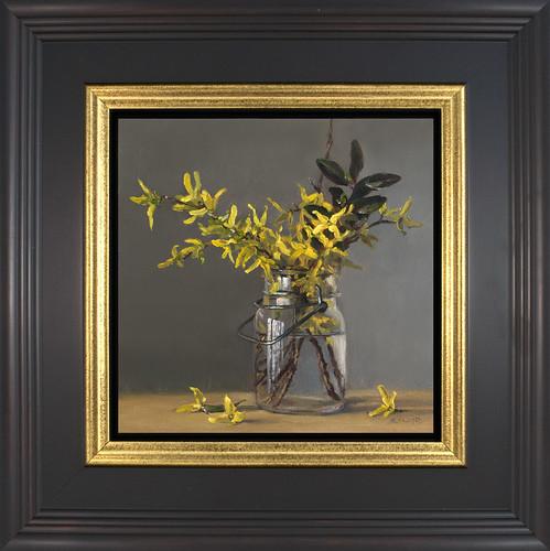 Forsythia - framed