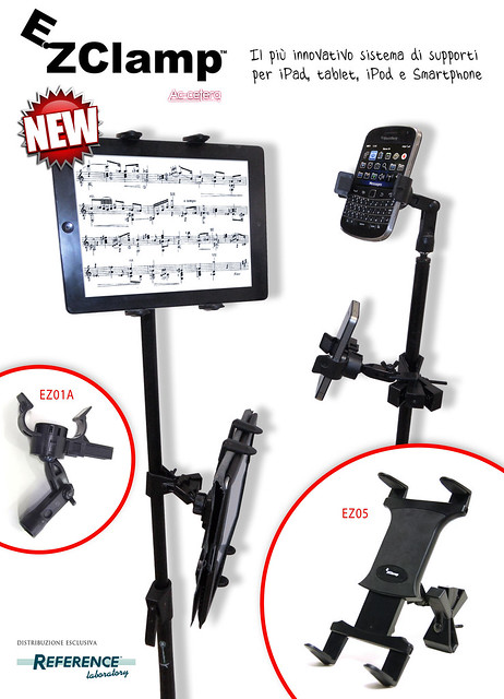 EZClamp™ systems - i nuovi supporti per iPad, iPhone, tablet, smartphone