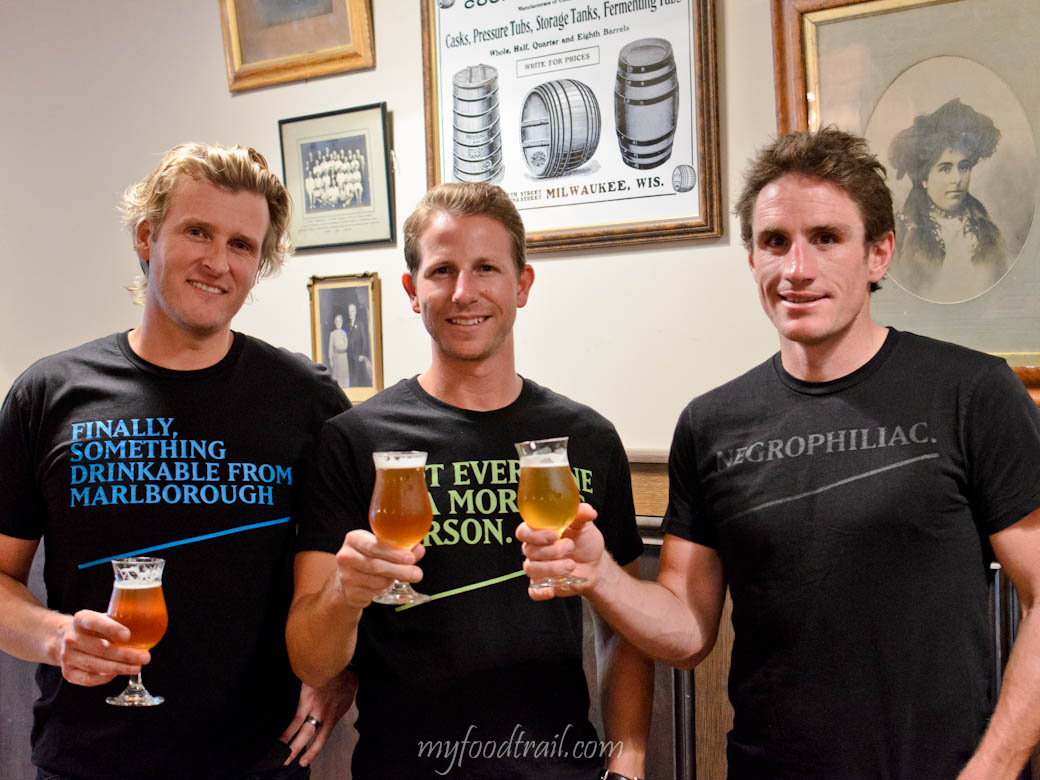 Moa Beer Tasting - Justin, Devon & Josh