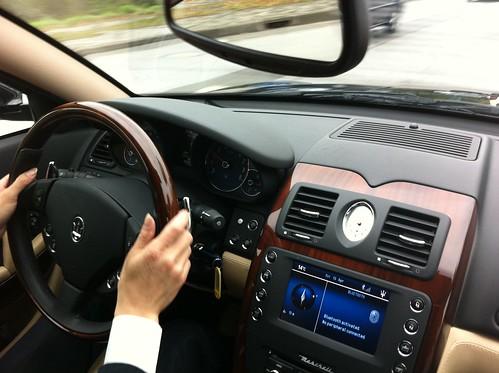 Driving to the race track in (Formula One driver) Felipe Massa's Maserati