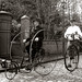 Two of the Invited Visiting Cyclists by Beamish Museum