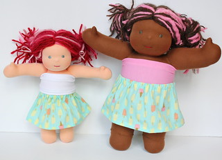 "10""/15"" Doll Simple Cotton Skirt Sets"