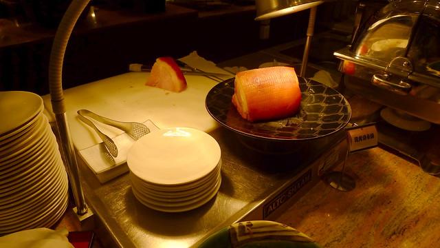 carved ham