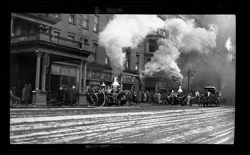 new york horse truck wagon fire hotel rochester proof powers fireproof
