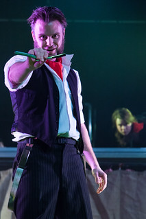 Edinburgh Music Theatre Warrick Hunter as Sweeney Todd. Photo credit Alan Potter.