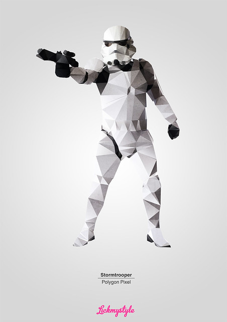 Stormtrooper - Polygon pixel by lickmystyle