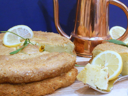 lemon olive oil cake with tarragon