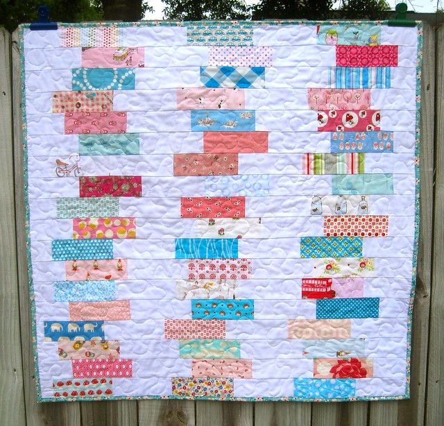 Scrappy Chic baby quilt