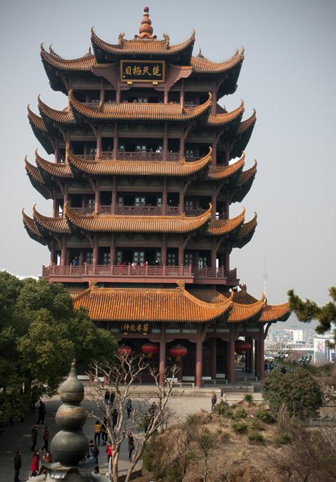 Wuhans infamous Yellow Crane Tower.  If there is one iconic symbol of Wuhan it is this tower.