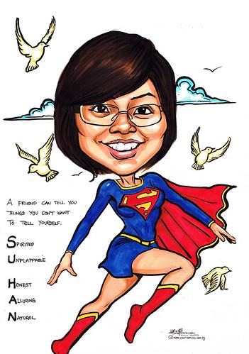 Supergirl caricature
