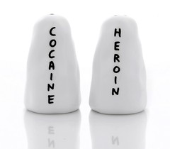 Cocaine and Heroin Salt and Pepper Shakers